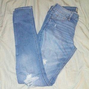 Hollister regular distressed skinny jeans